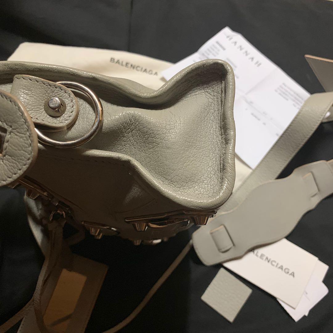 Balenciaga Mini City Bag 灰色 牛皮 手袋 handbag