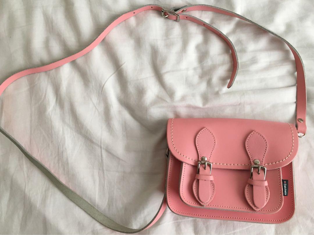(Brand New) Zatchels UK - pink satchel bag
