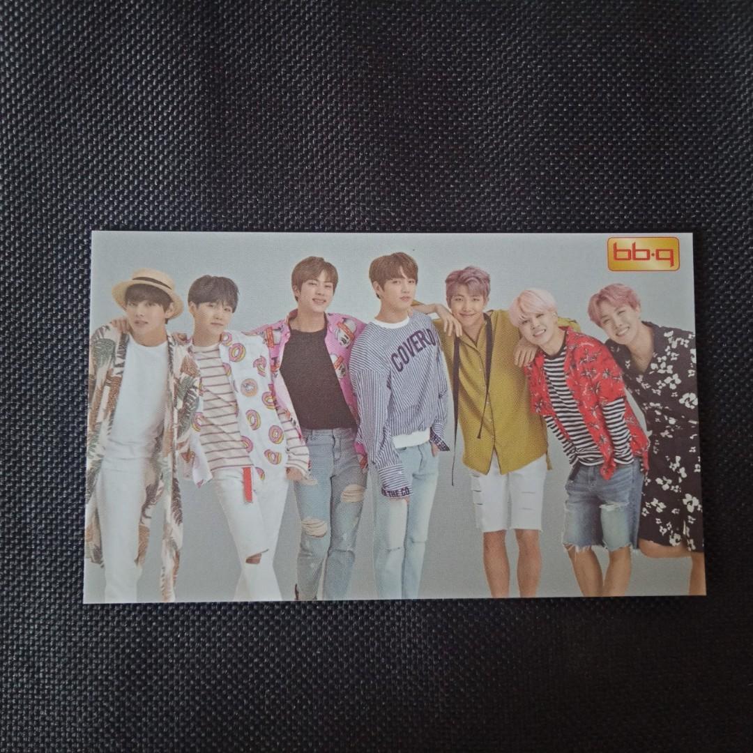 [BTS CLEARANCE SALE] BTS x BBQ CF - Group Official Photocard
