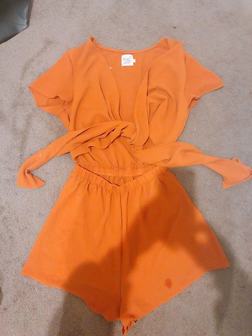Burnt Orange Boutique PlAysuit sz6-8