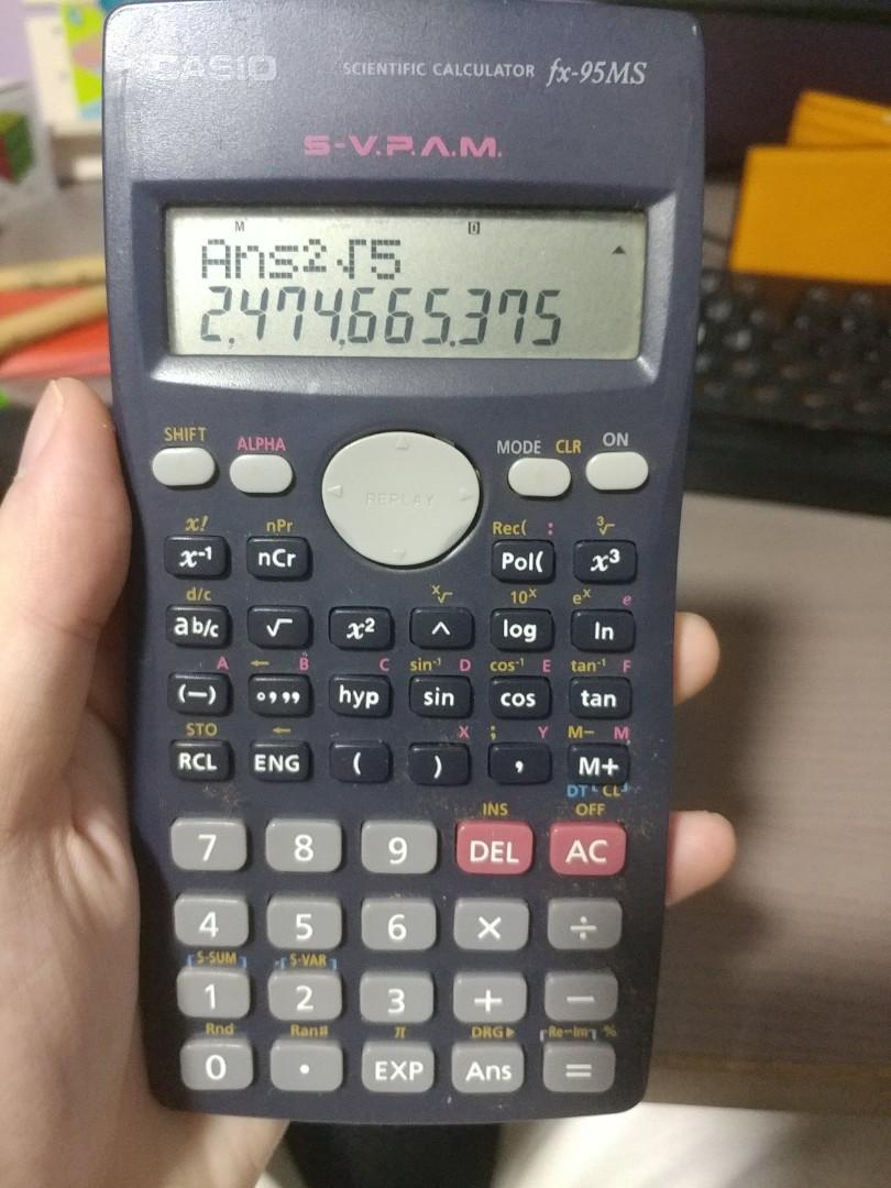 casio fx-95ms scientific calculator