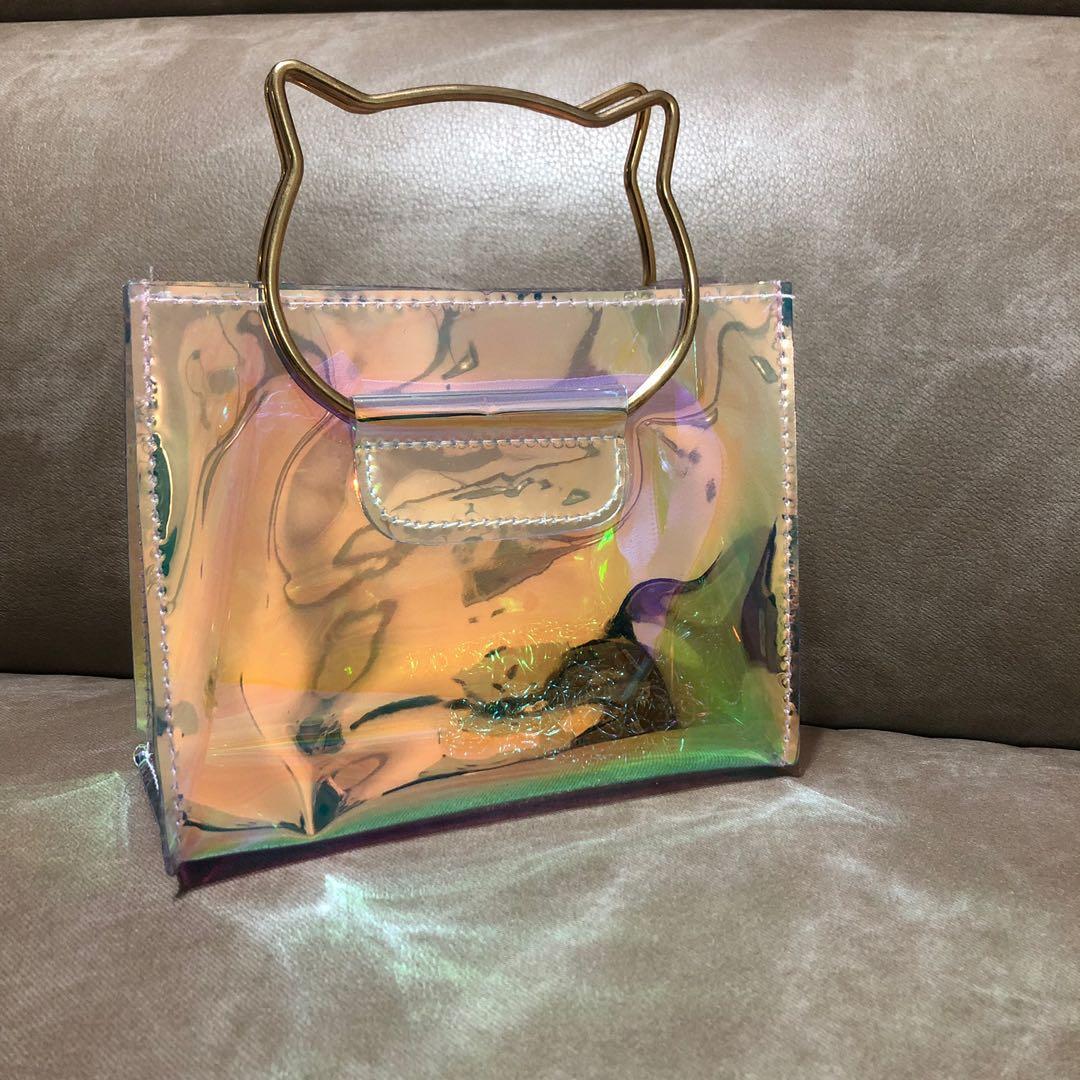 Cat design handbag