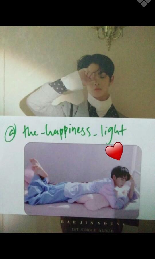 Cix bae jinyoung official transparent pc 1st single day