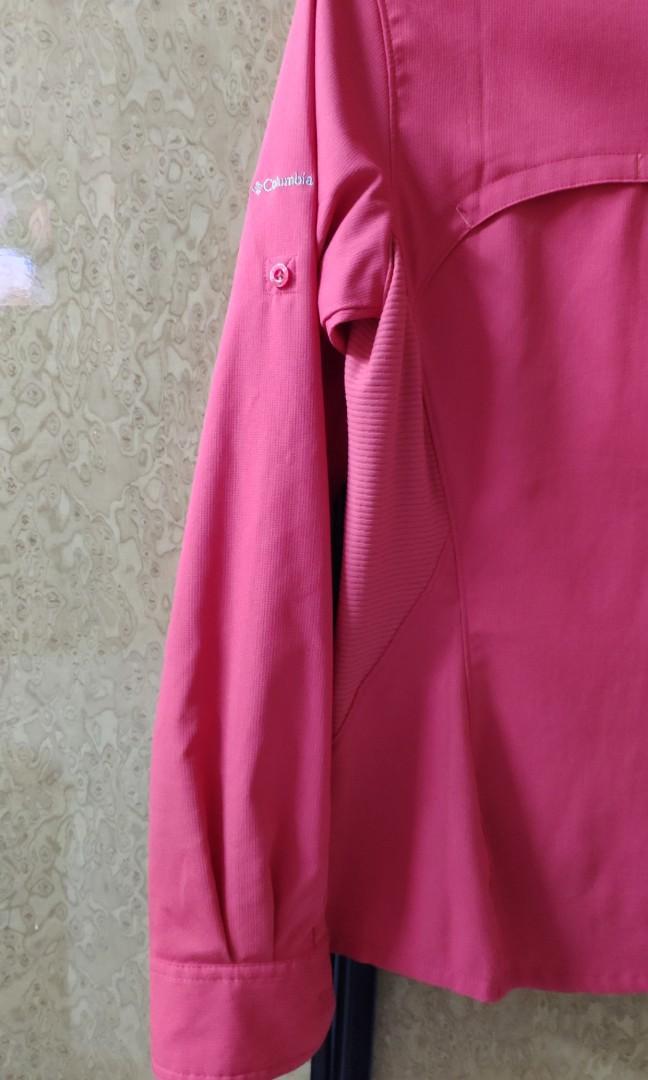 Columbia橙紅shirt