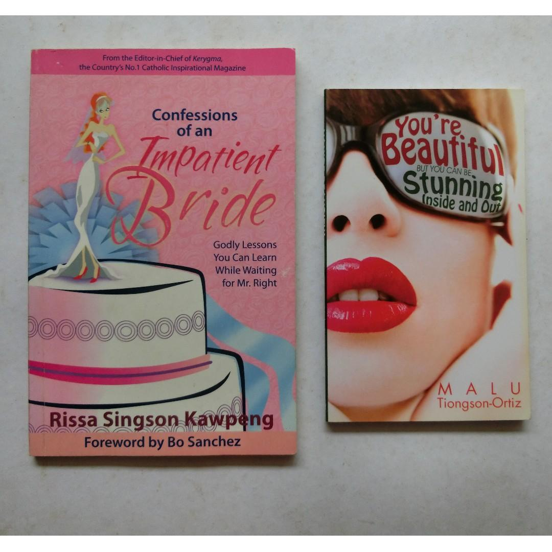 Confessions of an Impatient Bride by Rissa Singson-Kawpeng + You're Beautiful but You can be Stunning Inside and Out by Malu Tiongson-Ortiz