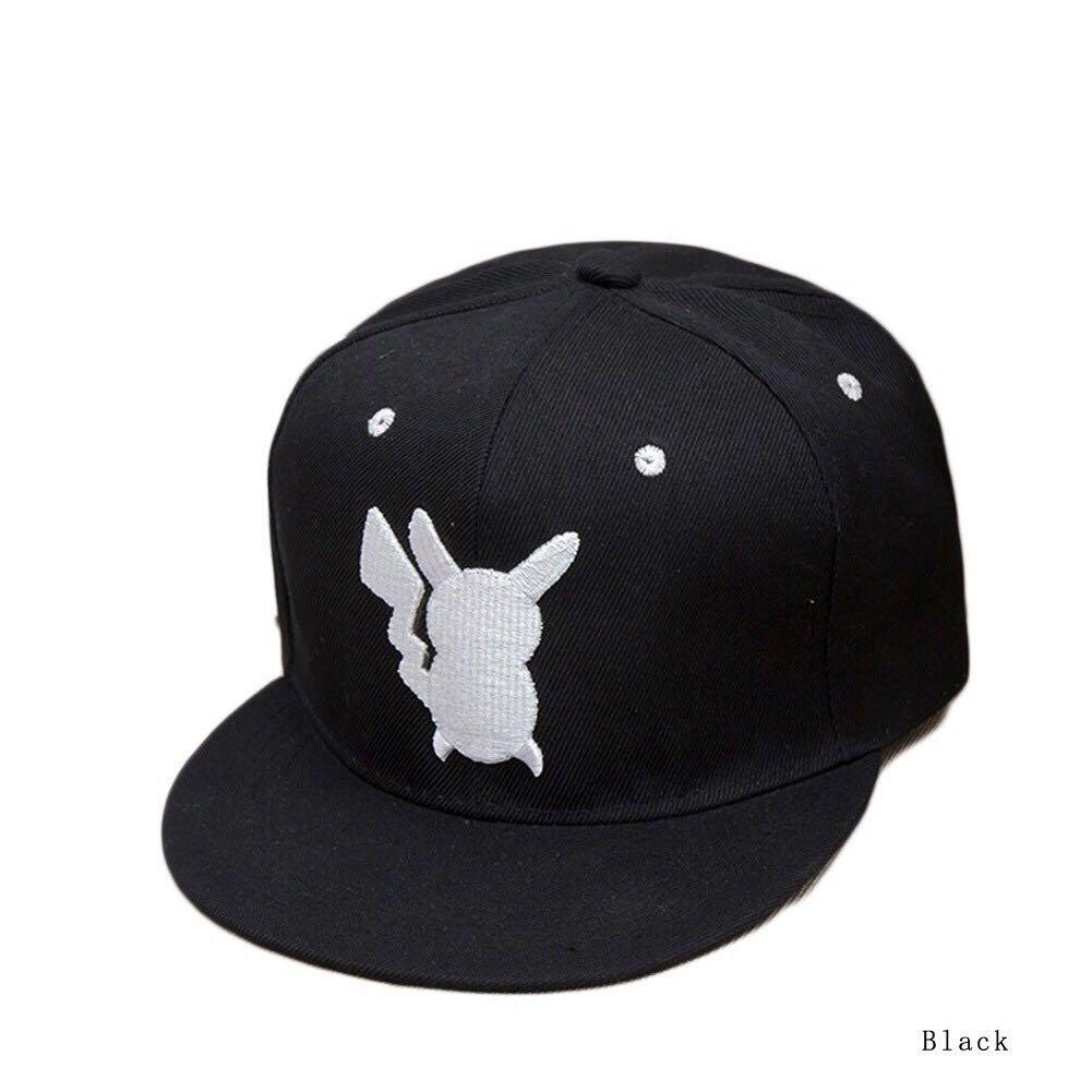 Cosplay Pokemon Pocket Monster Pikachu Luhan Flat Hat Hip-hop Hat Baseball Caps