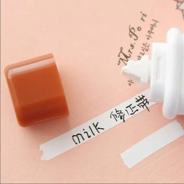 Cute Milk Correction Tape Material Escolar Kawaii Stationery Office School Supplies Papelaria