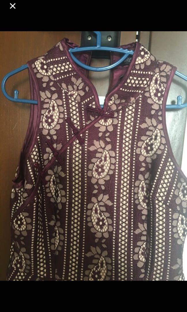 Doublewoot oriental dress (maroon colour)