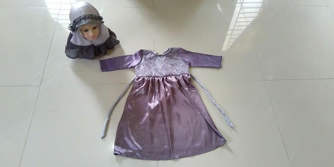 Dress hijab anak usia 2 tahun New 35K