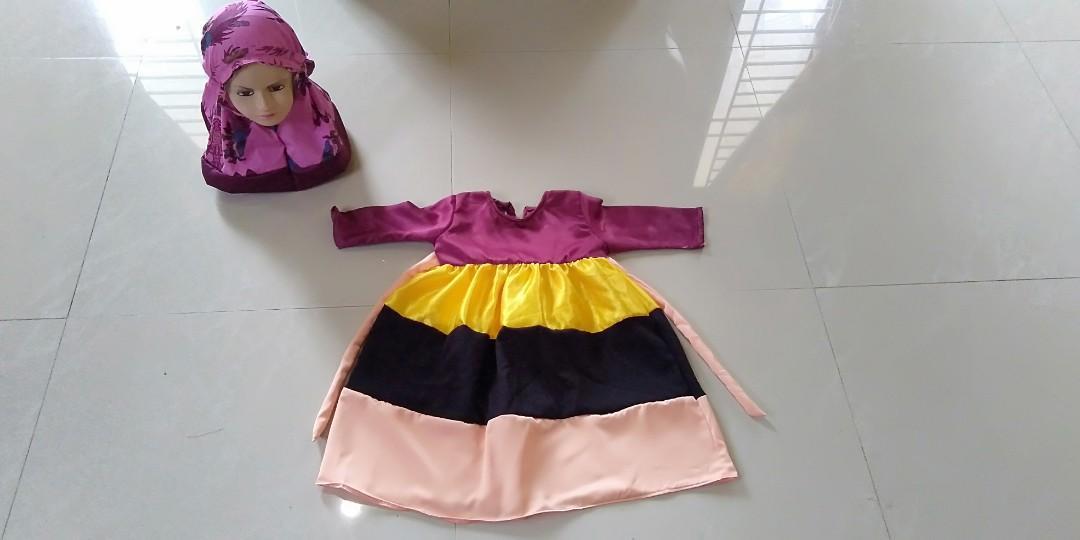 Dress hijab anak usia 2 tahun New 35K