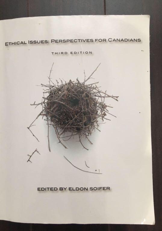 Ethical Issues: Perspectives for Canadians third edition