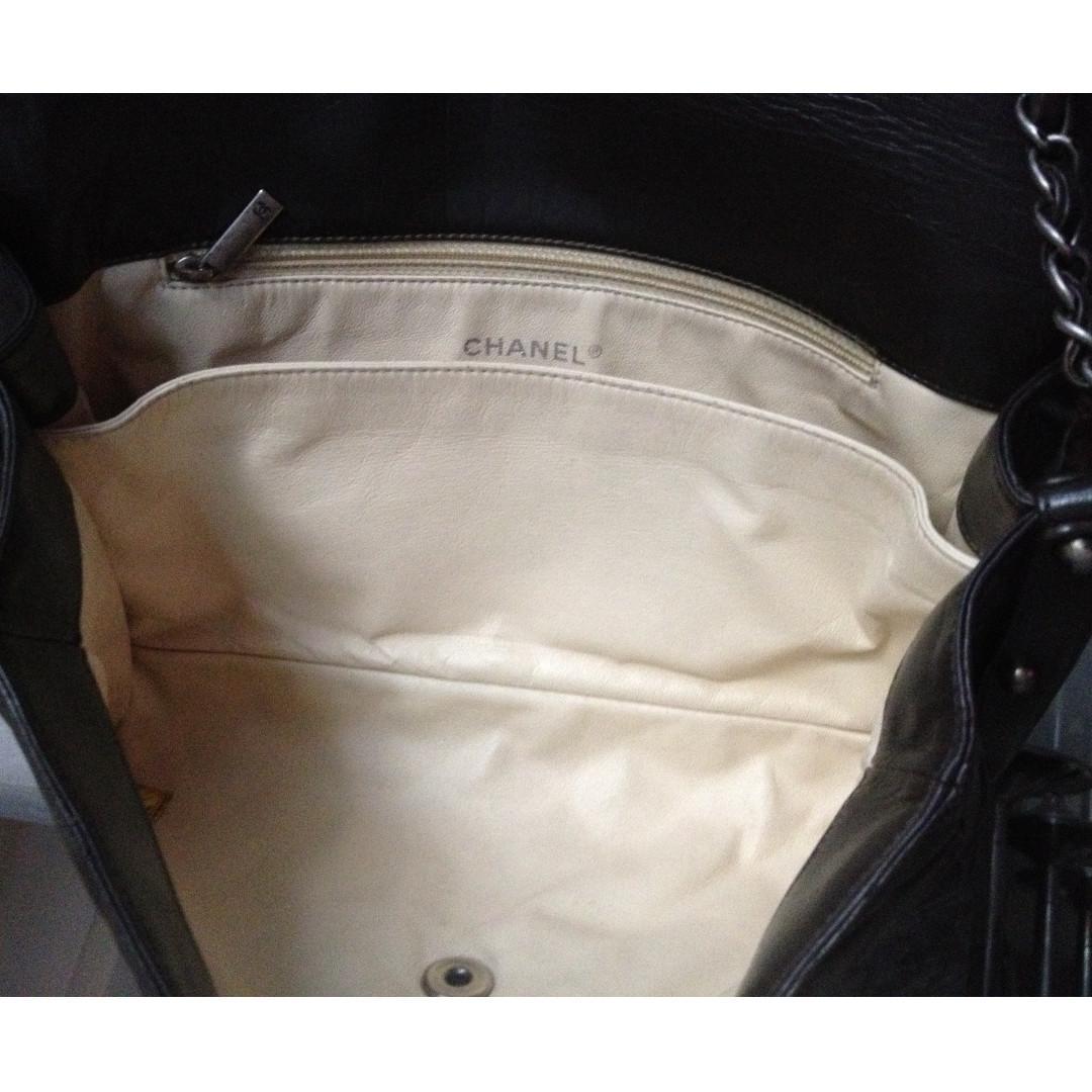 FULL SET CHANEL Charcoal Brown Distressed Glazed Calfskin Ruthenium Boy Flap Bag