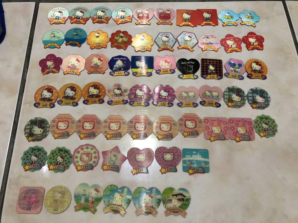 Hello Kitty磁鐵&別針、多啦A夢磁鐵、彎彎磁鐵
