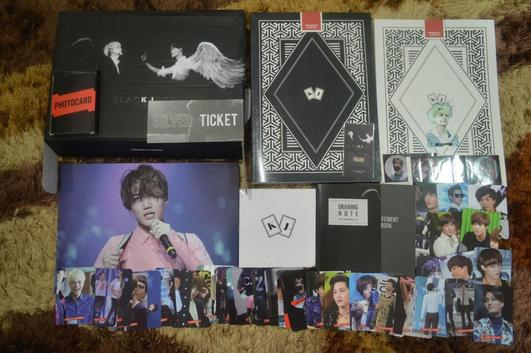 Kai's fansite GLAMSLAM 1st photobook BLACKJACK full set