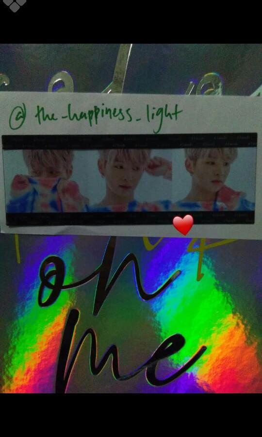 Kang daniel 1st album colour on me transparent photostrip