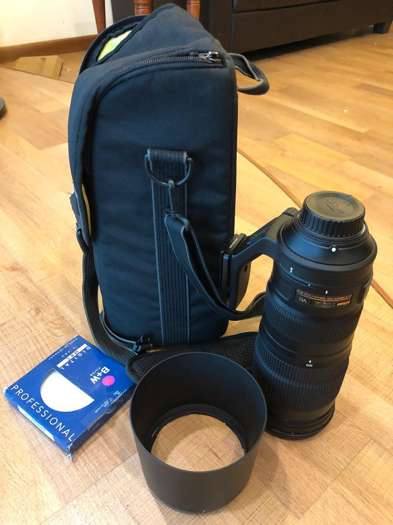 Nikon 200-500mm lens & B+W professional filter