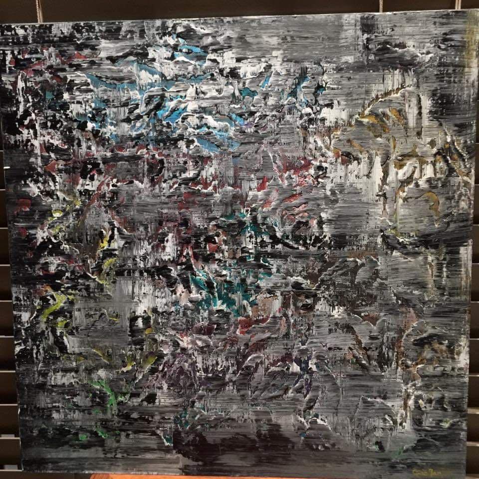 "Original Art Acrylic Painting ""Invincible (Kendo)"""