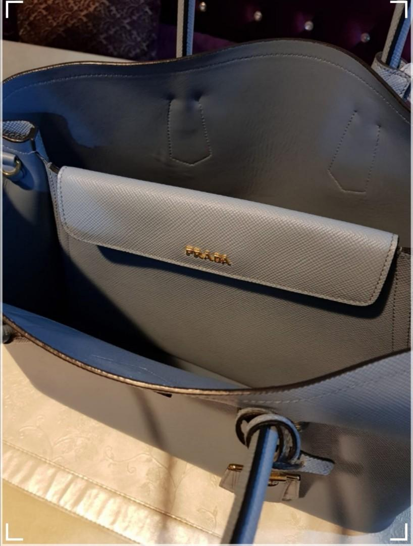 PRICE REDUCED: Preloved Authentic Prada Saffiano Cuir Double Bag.