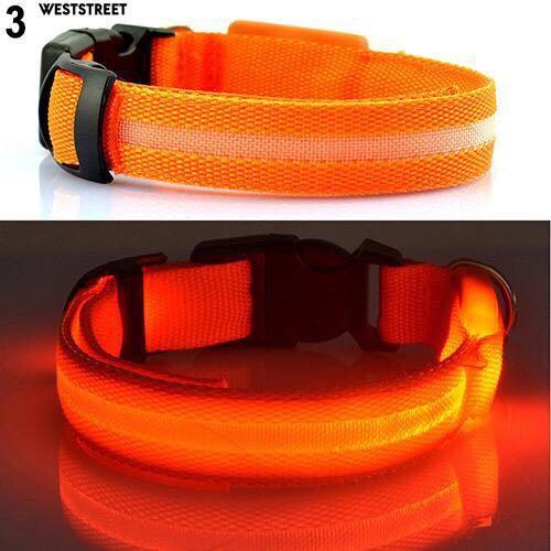 ♨Puppy Dog Cat Night Safety Flashing  Luminous LED Light Adjustable Pet Collar