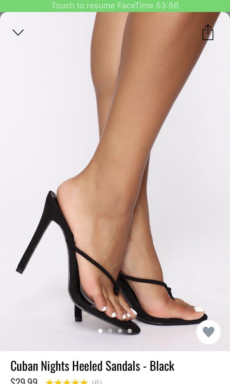 Size 7 - Fashion Nova 'Cuban Nights Heeled Sandals'