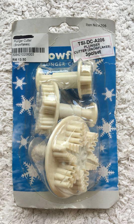 Snowflake Fondant Plunger Cutter #blackfriday