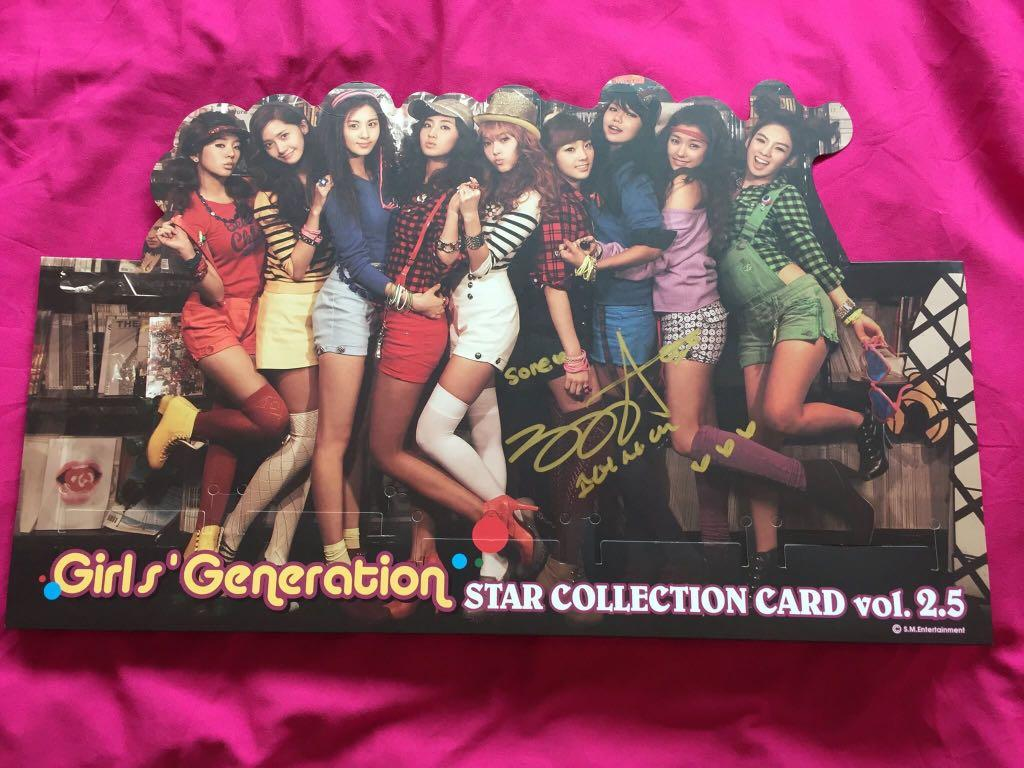 SNSD YOONA AUTOGRAPHED STAR CARD STANDEE  ( ULTRA RARE )