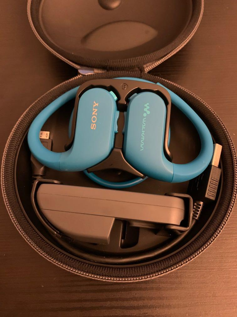 Sony NW-WS413 4GB Waterproof Wearable Walkman Earphones/ headphones