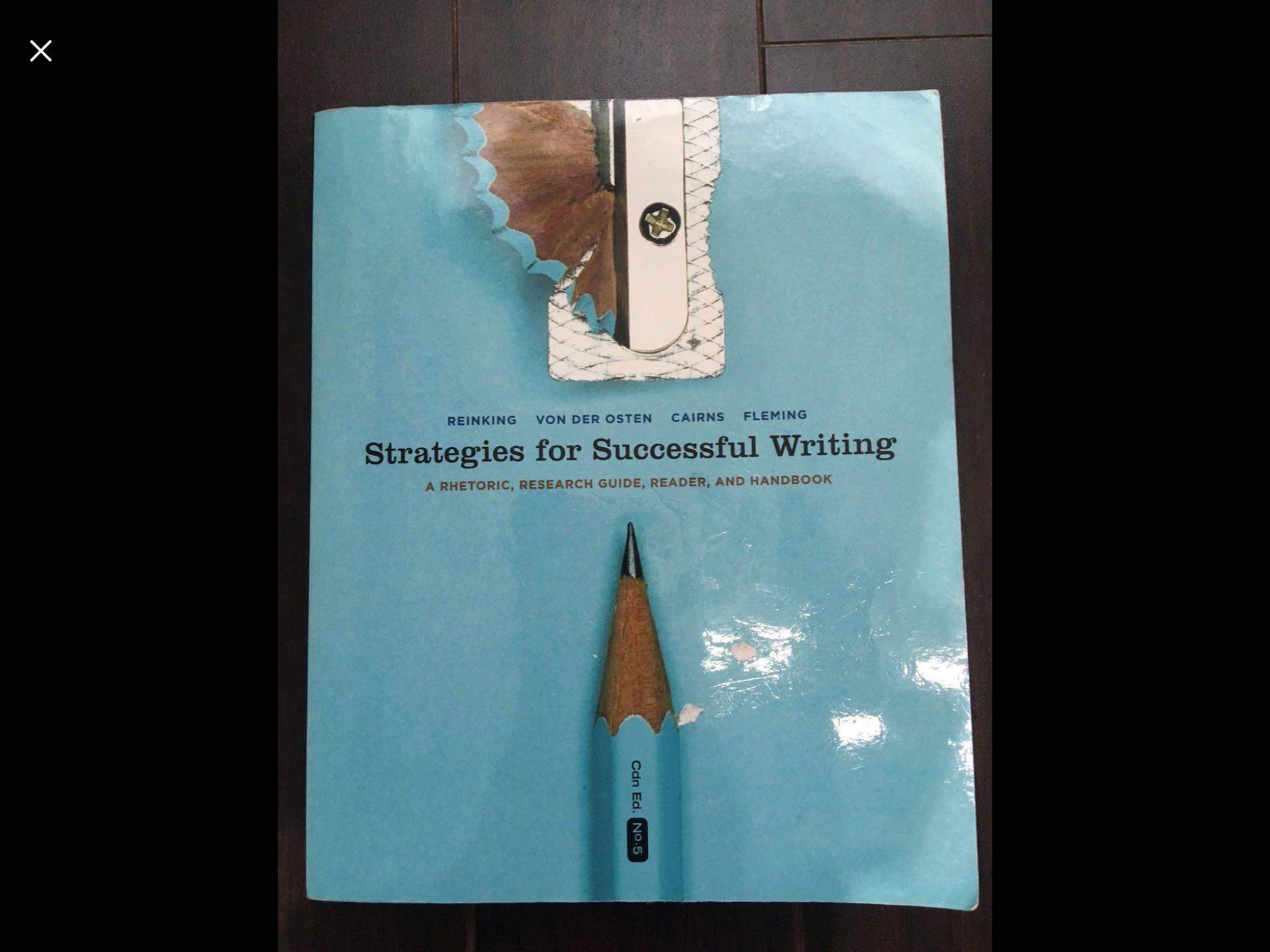 Strategies for Successful Writting by Reinking, Von Der Osten, Cairns & Fleming