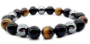 SUCCESS | Tiger Eye | Black Onyx | Hematite | Yoga Chakra Bracelet
