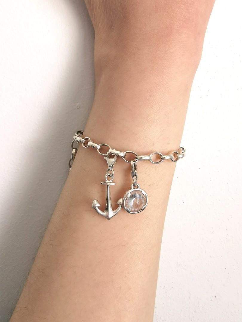 Thomas Sabo sterling silver anchor lobster claw charm authentic