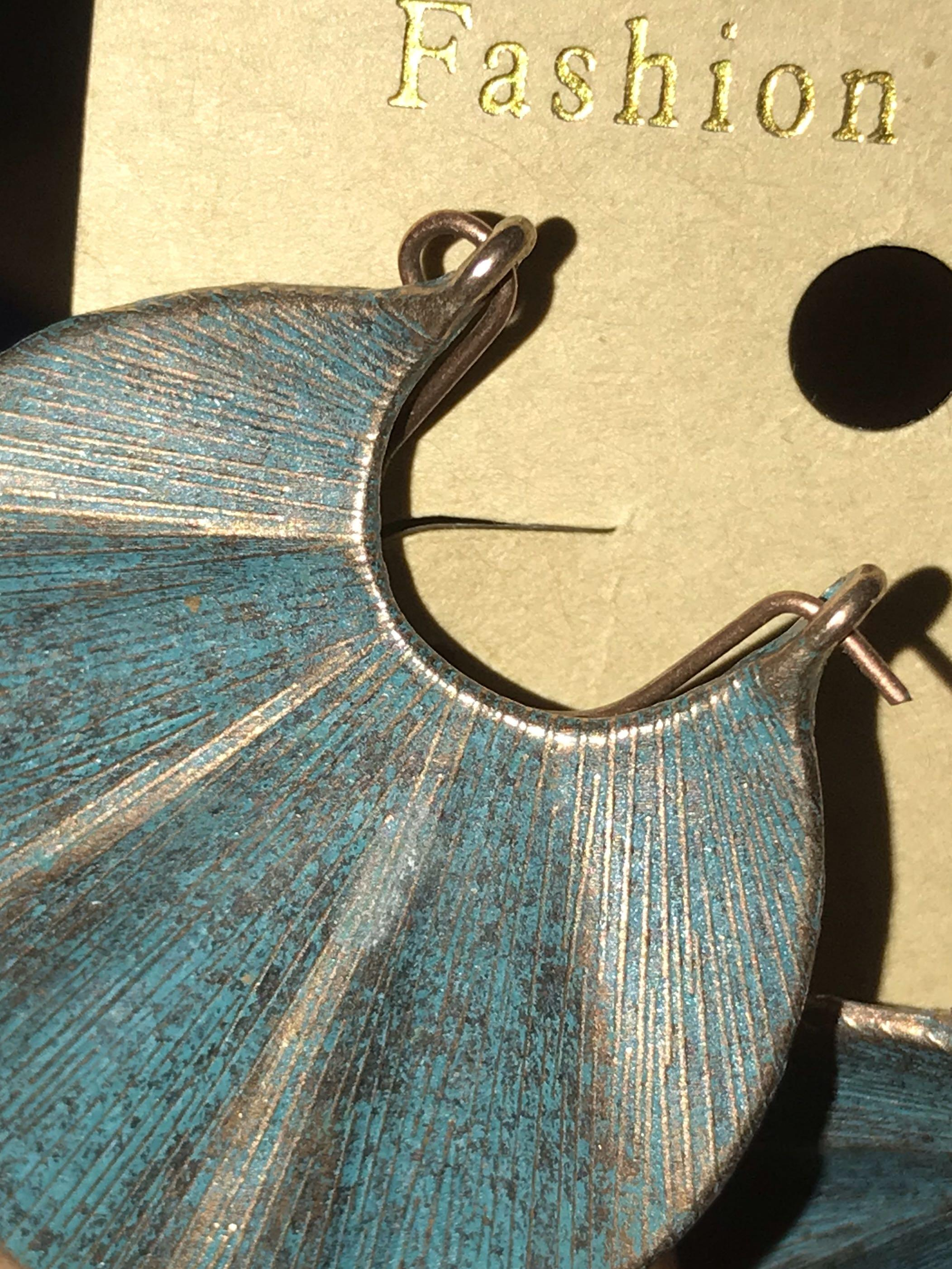 $2.5off!🆕Unique Oxidised hoop earrings