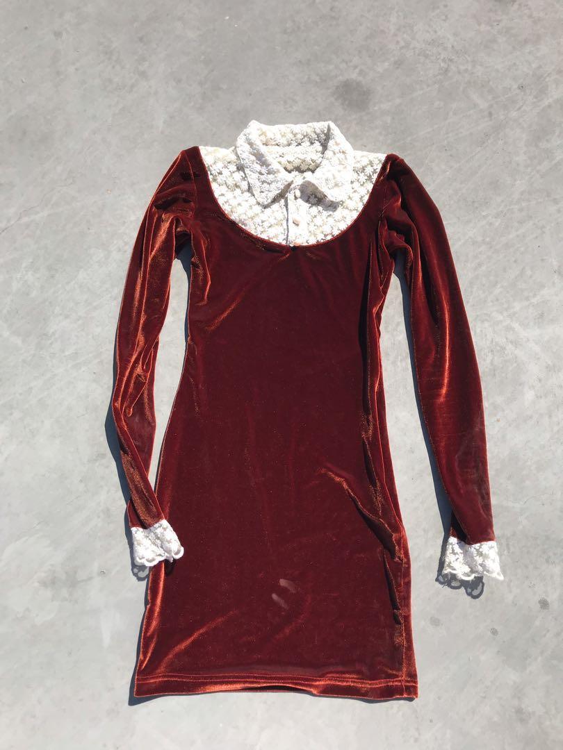 VINTAGE MINI DRESS WIRH COLLAR