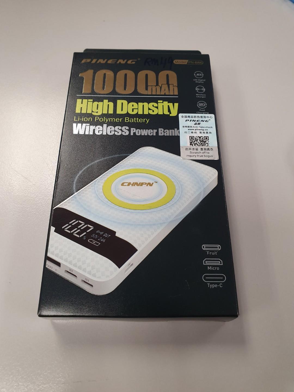 Wireless Powerbank 10000mah Pineng