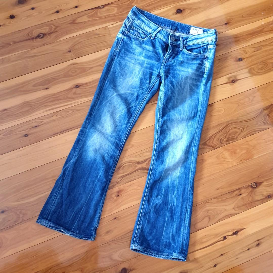 Women's size 25 'G-STAR RAW 3301' Gorgeous washed out blue denim jeans L28
