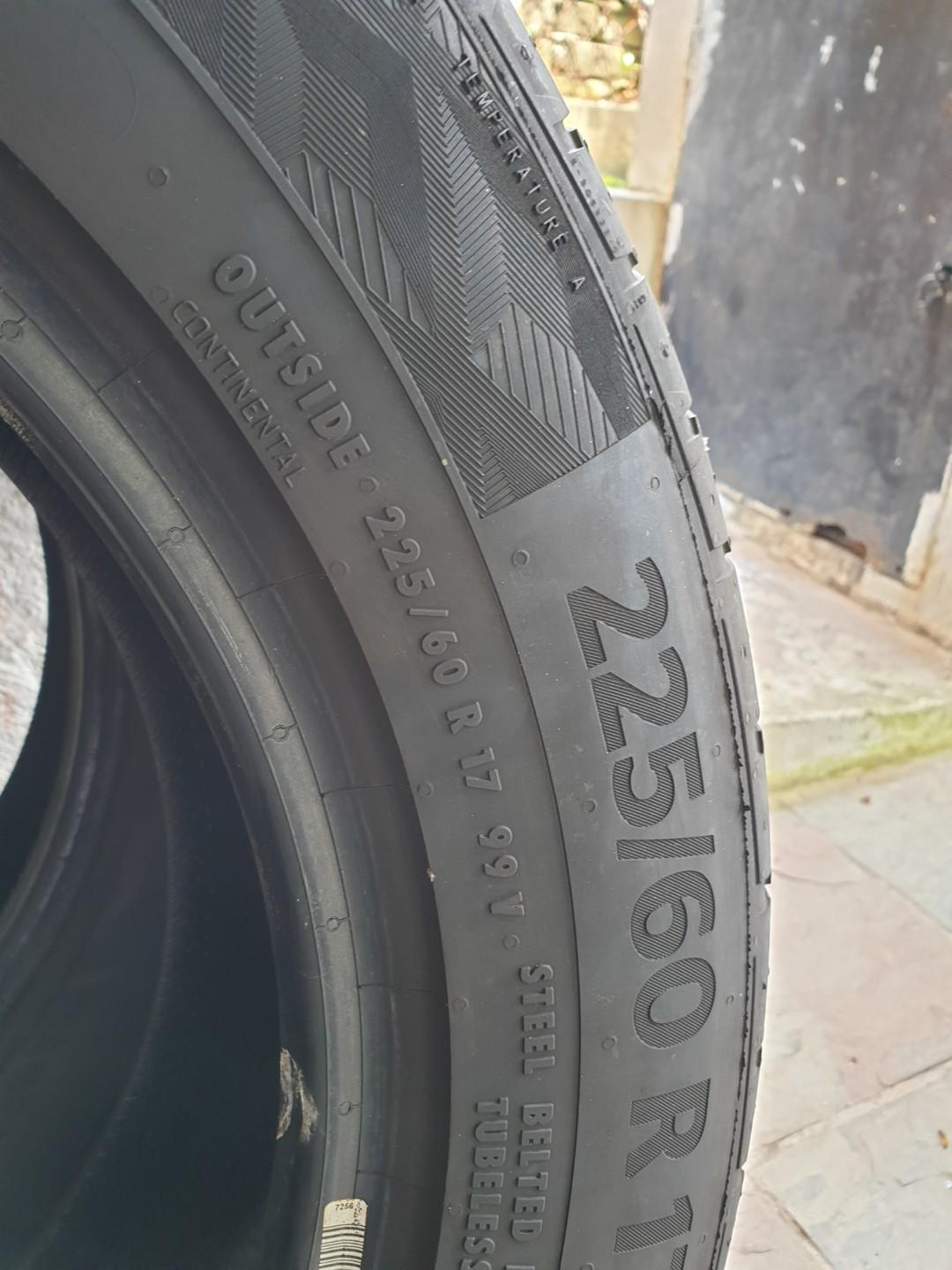 WTS Continental UltraContact UC6 SUV 255/60R17