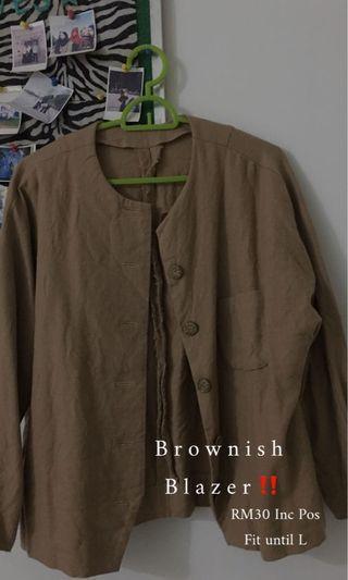Brownish Short Blazer