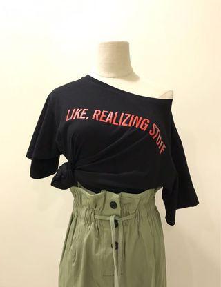 【現貨實拍-夏10%off】潮版字母印花寬鬆T恤