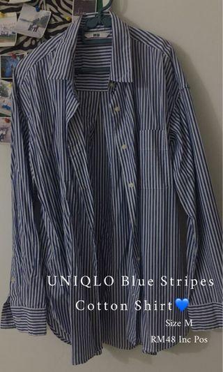 UNIQLO Blue Stripes Cotton Shirt