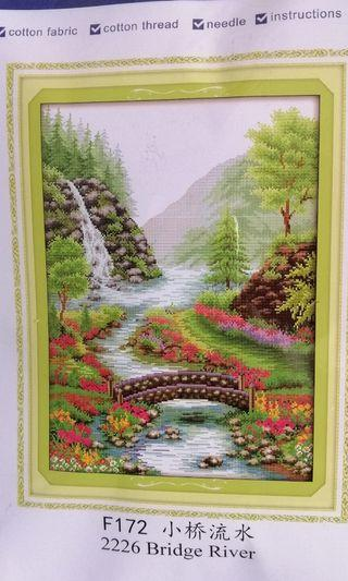 Cross stitch kit 11ct F172 NKF waterfall
