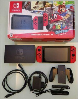 Nintendo switch Jailbreak mooded with sx os pro + 128gb sd card + pouch + screen protector + 100 free games + grib