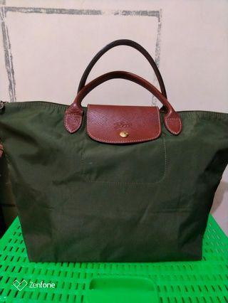 Longchamp handbag hijau