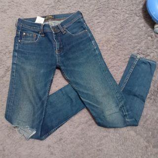 Dark Blue Jeans Get Used
