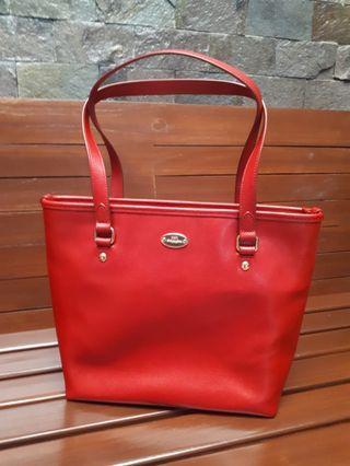 Tas Coach Merah Ori