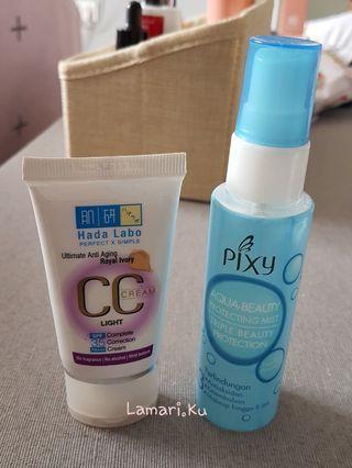 Pixy Aquabeauty Mist & Hada Labo CC Cream