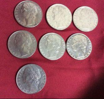 Italian LIRE L100 coins 1967 to 1982