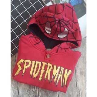 小童蜘蛛人微刷毛連帽T 5