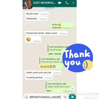 Customer Feedback 😍 Lv Neverfull