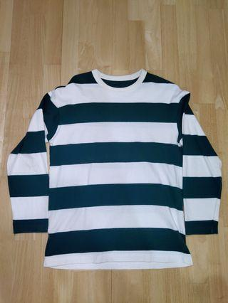 SPAO strip long sleeve (green,white)