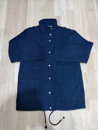 Black Long techwear coat