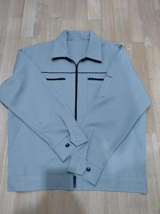 Lime colour Work Jacket